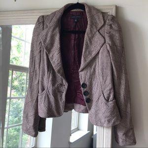 BANANA REPUBLIC burgundy wool blazer (4) ✨